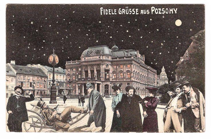 Xmass card from old Bratislava