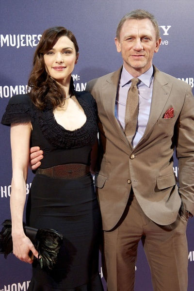 Red carpet couple: Daniel Craig and Rachel Weisz celebrities