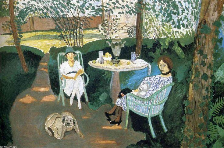 Acheter Tableau 'thé dans le jardin' de Henri Matisse - Achat d'une reproduction sur toile peinte à la main , Reproduction peinture, copie de tableau, reproduction d'oeuvres d'art sur toile