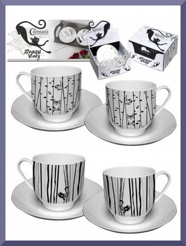 Little sweet espresso cups with cats <3 I love it!!