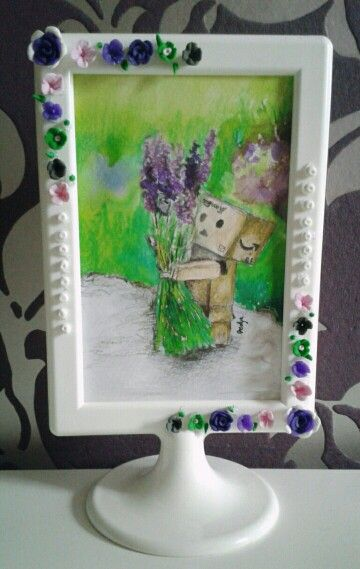 Danbo picture FIMO and painting (I and My sister)