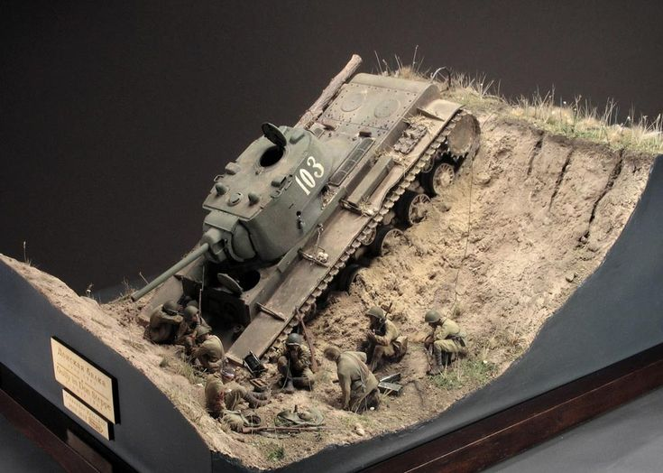 Photo 1 - Gully in Don Steppe | Dioramas and Vignettes | Gallery on Diorama.ru