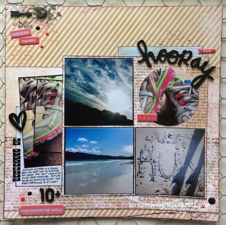 I am loving the Scrap Our Stash sketch challenge this month – it includes up to 4 photos, all kinds of a layers, and the clincher for me was a couple of circles! Speaking my scrap language Scrap Ou…