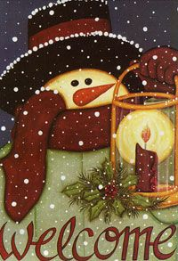 Snowmen. I want this on a flag or a framed picture!