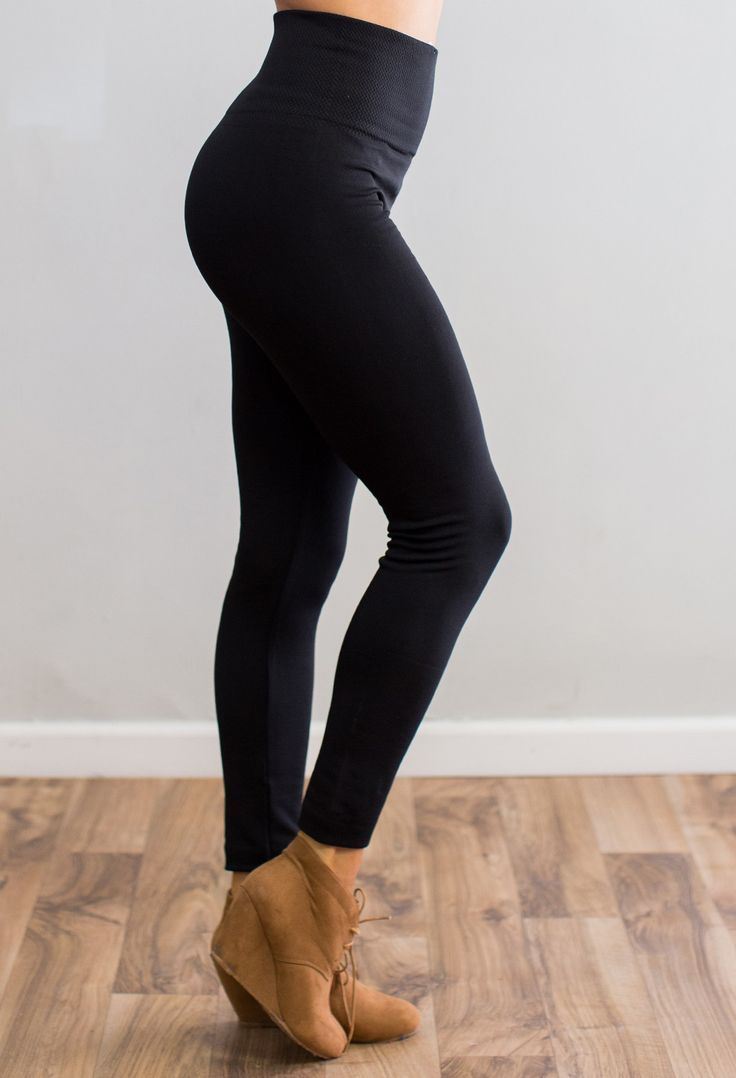 """Your favorite leggings are back just in time for fall and winter! One size truly does fit all with these babes! 65% Polyester, 20% Cotton, 15% Spandex Model is 5'7"""" size 2 in a small."""