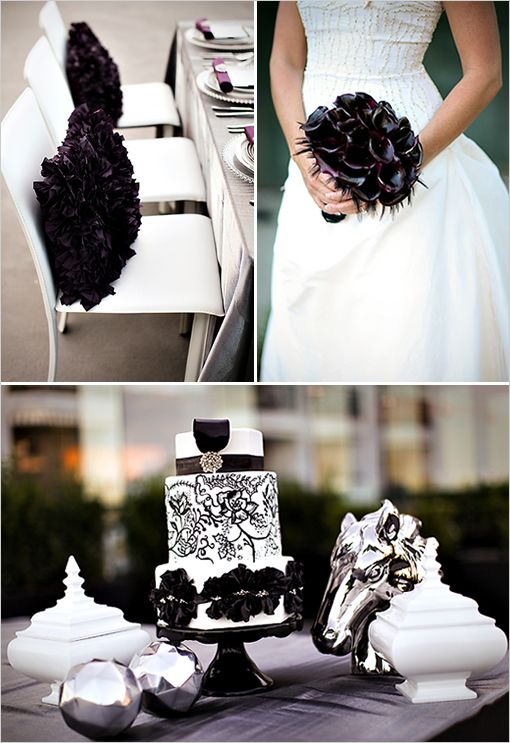323 best Black White Wedding Theme images on Pinterest