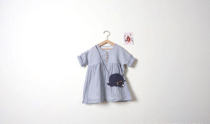 Mix di cotone di tela striscia ragazze abiti colore fresco ragazze del bambino vestiti dalla spiaggia in    da Abiti su AliExpress.com | Gruppo Alibaba