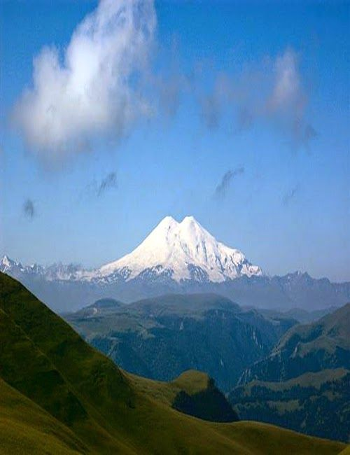 Mt Elbrus is the highest mountain in Europe, and the tenth most prominent peak in the world.A dormant volcano, Elbrus forms part of the Caucasus Mountains in Southern Russia, near the border with Georgia.