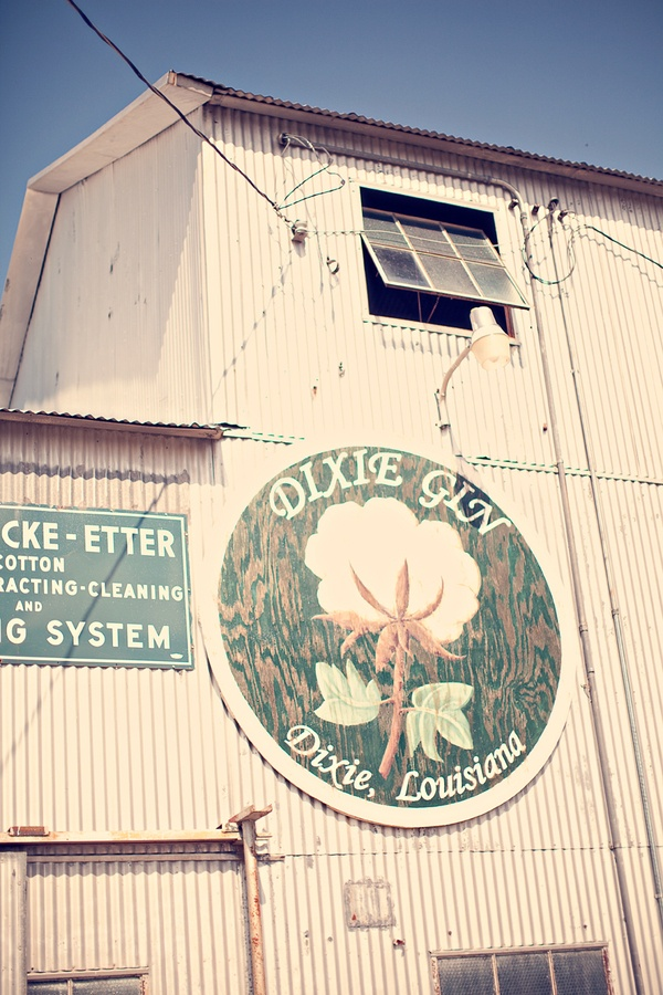 Dixie Gin in Dixie, LA - great charming event spot.  At one time this was a very active cotton gin.