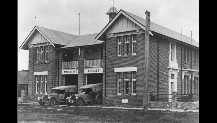 Cairns Ambulance Station on Grafton Street (ca. 1928)