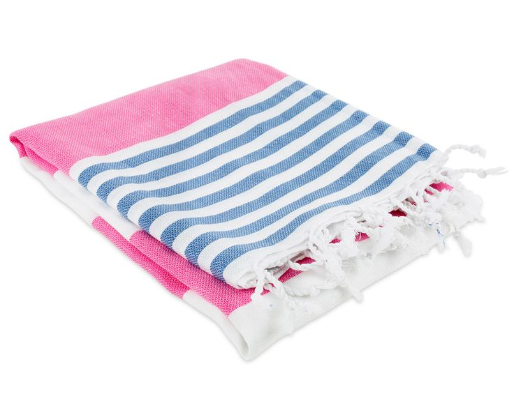 Nantucket Fouta Towel - Pink/Blue