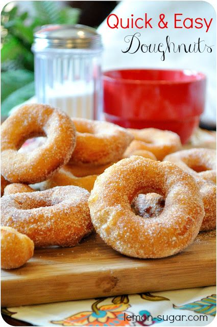 Quick and Easy Doughnuts - Lemon Sugar