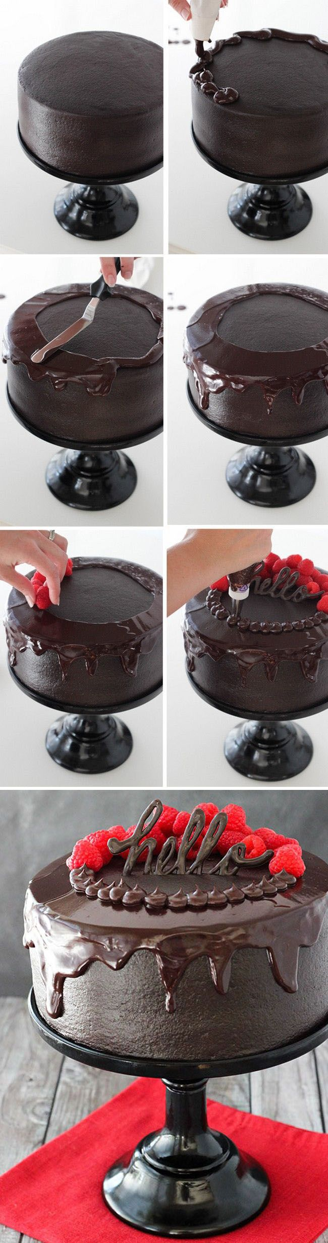 Red Wine Chocolate Cake Recipe / Decoration
