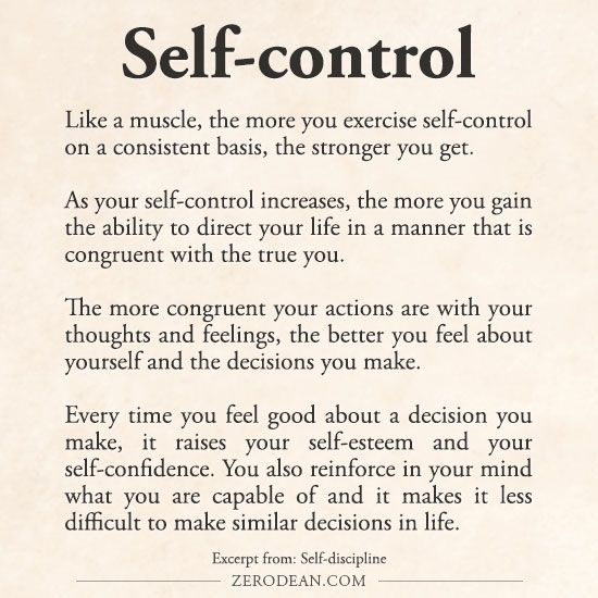 Excerpt from: Self-discipline                                                                                                                                                     More