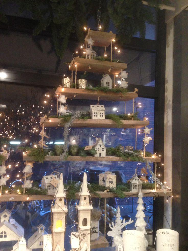 Hangende kerstboom.