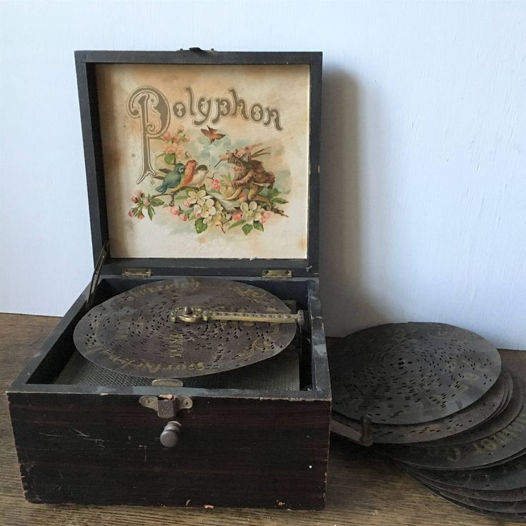 Antique Polyphon record player music box, German, circa 1890 by HelloVintageUK on Etsy