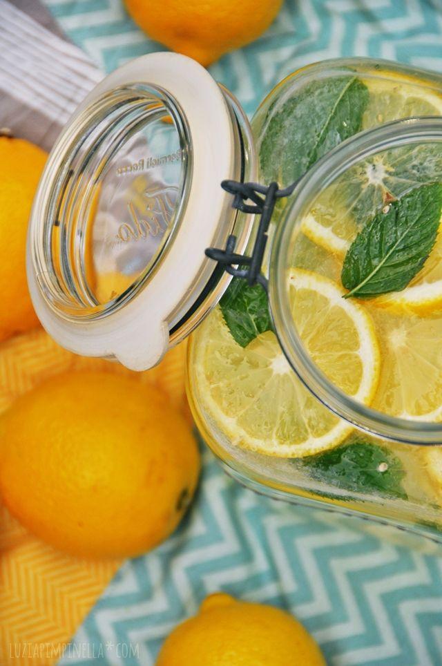luzia pimpinella | rezept für frische, hausgemachte zitronen ingwer limonade | recipe for fresh, homemade lemonade with ginger