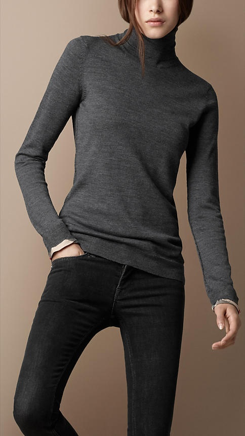 Burberry - MERINO WOOL KNIT TURTLE NECK - $275