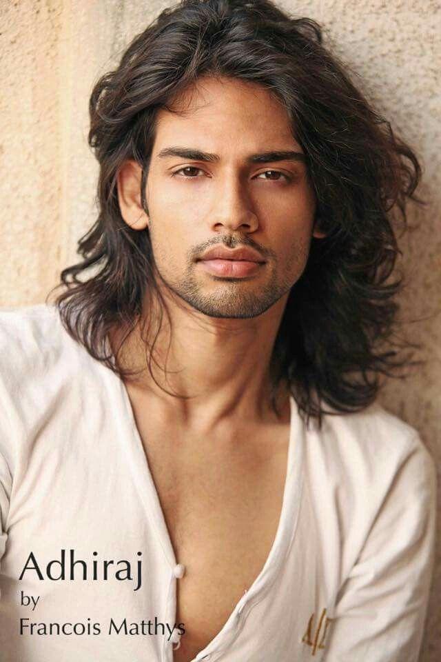 Long hair indian model