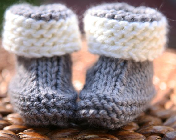 Super Easy Knitting Pattern Baby Booties Newborn 3