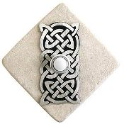 Celtic Knot Doorbell Cover in Pewter on Stone Diamond