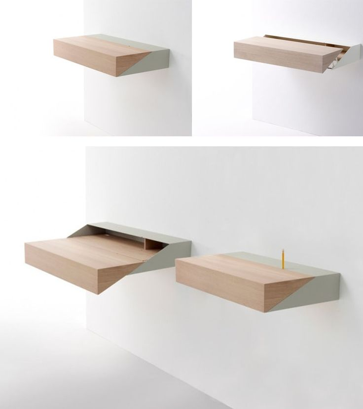 Furniture Home Idea Cleverly Wallmounted Desk For Home And Office With Pull Out System Design