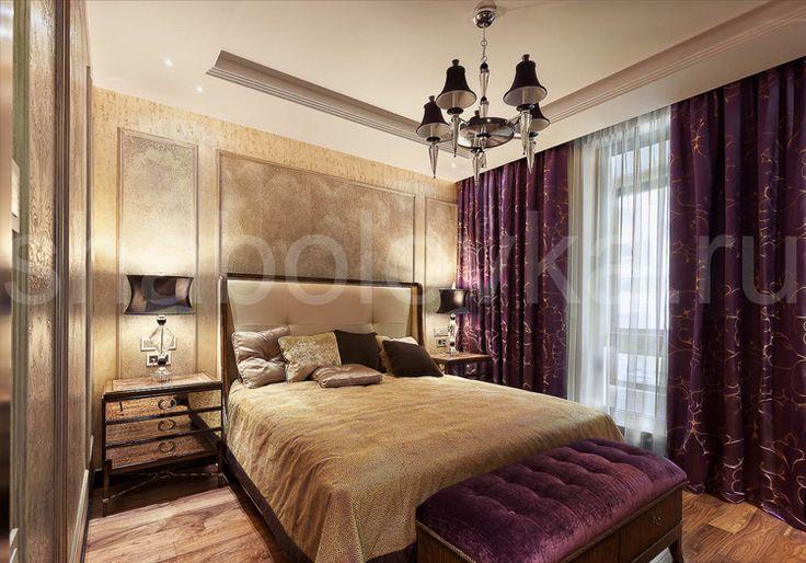 Квартира в стиле ар-деко - спальня