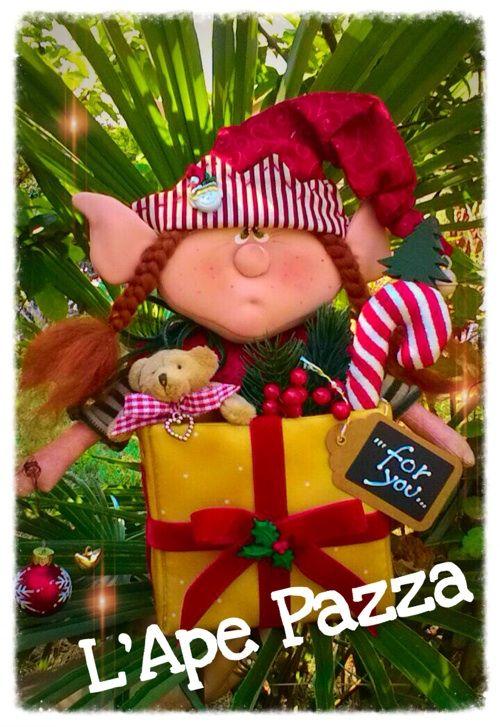 Cartamodelli babbi, renne elfi Natale 2015 : Cartamodello Favilla a sorpresa