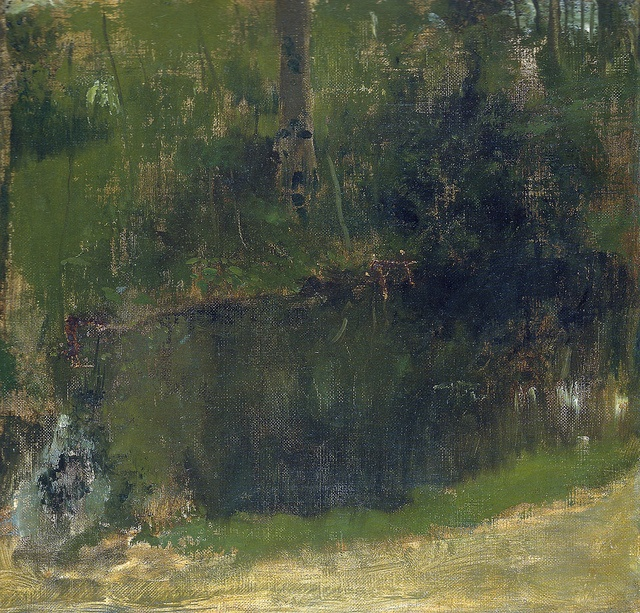 Edgar Degas - The Pond in the Forset, 1868 at Museo Thyssen-Bornemisza Madrid Spain   Flickr - Photo Sharing!
