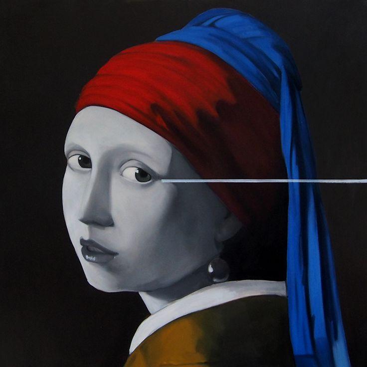 Holandská horizontála, Oil on canvas, 100x100cm