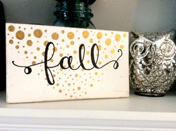 Rustic Home Decor Gold Fall Pallet Sign by SweetChalkDesigns