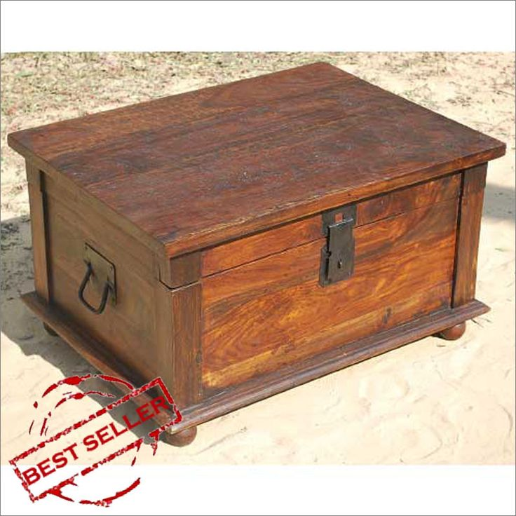 Wooden chest for bedroom extras
