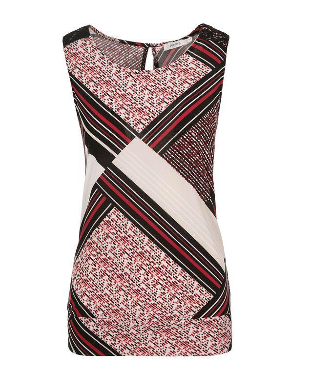Printed Crochet Trim Banded Tank, Poppy Red  Print #rickis #summer #summer2017 #summerfashion #rickisfashion #poppyfields #red #poppyred #colourofthemoment #loverickis