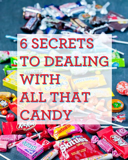 6 secrets to dealing with all that candy