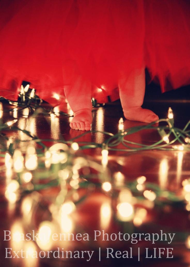 #BABY FEET, #Tutus, and #Christmas Lights...OH MY! 6 month photo shoot.  BraskaJennea #Photography
