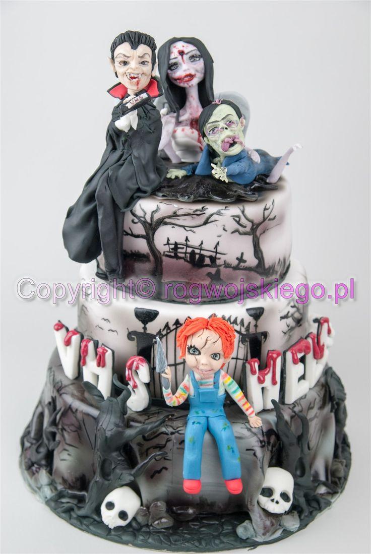 tort horror, straszny tort, horror cake, chucky doll http://rogwojskiego.pl