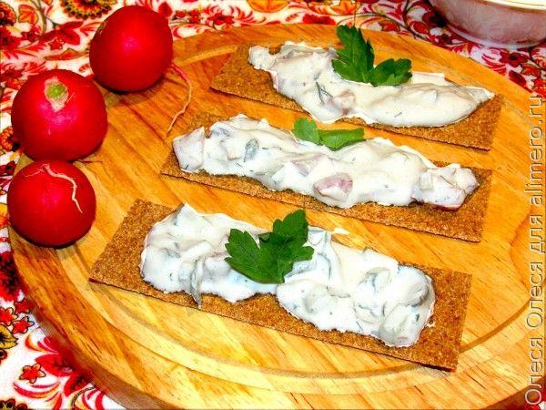 Закуска из творога с овощами и зеленью / Рецепты с фото
