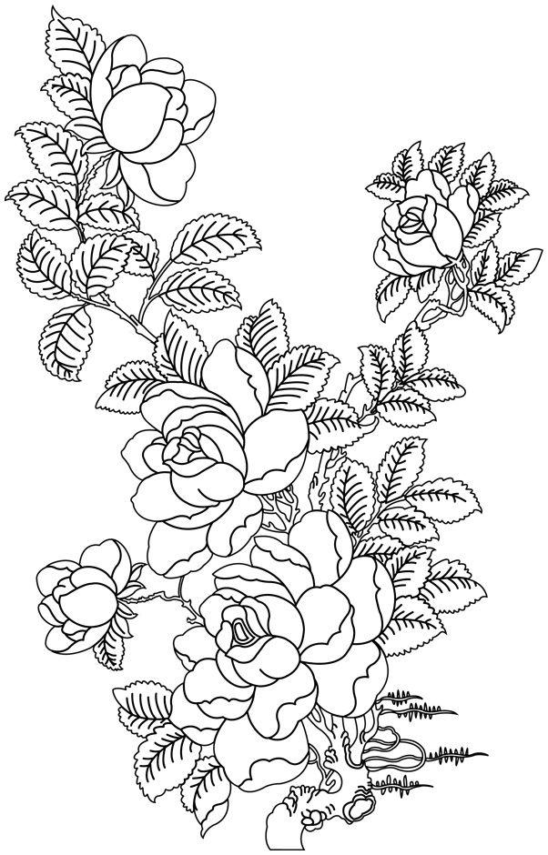 13 Elegant De Bouquet Fleurs Dessin Photographie Coloriage Mandala Fleur A Imprimer Licorne A Colorier