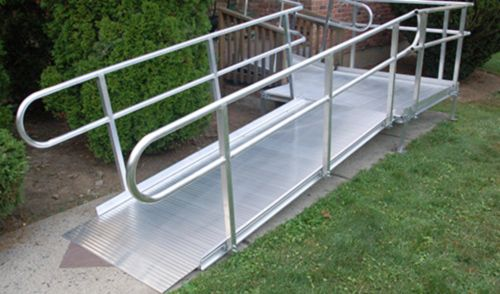 Our PREMIER Aluminum Wheelchair Ramps are our top rated ramps. These aluminum ramps, along with our steel ramps, offer the industry's only open-mesh ramp surface, to provide unmatched safety, especially in inclement weather, allowing snow, ice and water to drain and not puddle on the ramp. #WheelchairRamps #Ramps