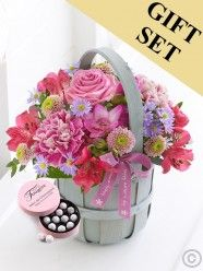Mother's Day Petite Basket with Chocolate Truffles