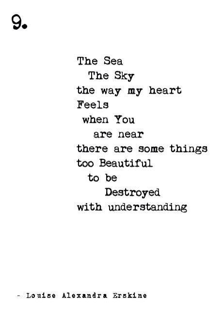 Short modern poetry life love sea Louise Alexandra Erskine