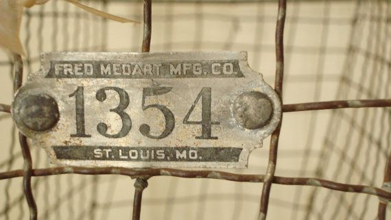vintage fred medart mfg. co Sold!: Vintage Fred, Medart Mfg, Favorite Etsy, Etsy Finds, Fred Medart, Wire Baskets