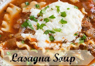 Crock Pot Lasagna Soup {Freezer Meal}
