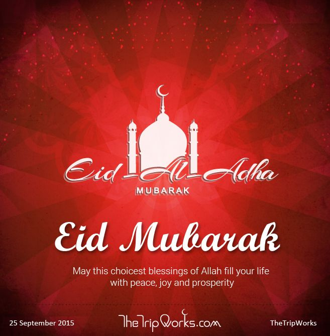 May this choicest blessings of Allah fill your life with peace, joy and prosperity. Eid Al Adha Mubarak to all.