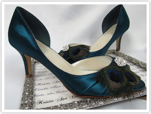 Love these shoes! Nice touch with the peacock feather.