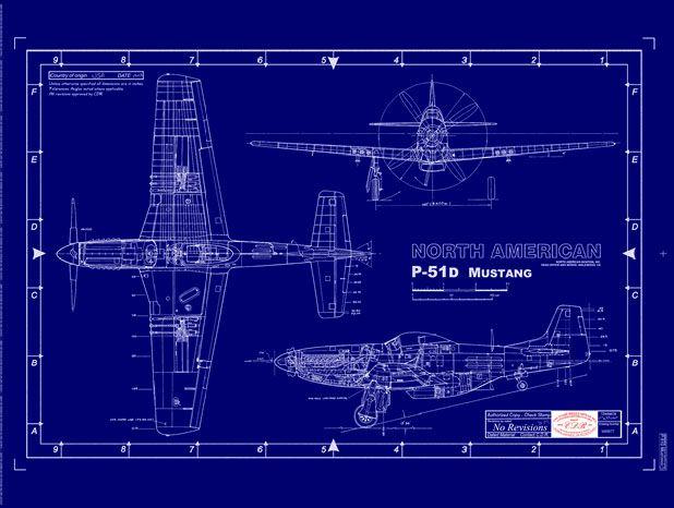 P-51 Mustang engineering plans