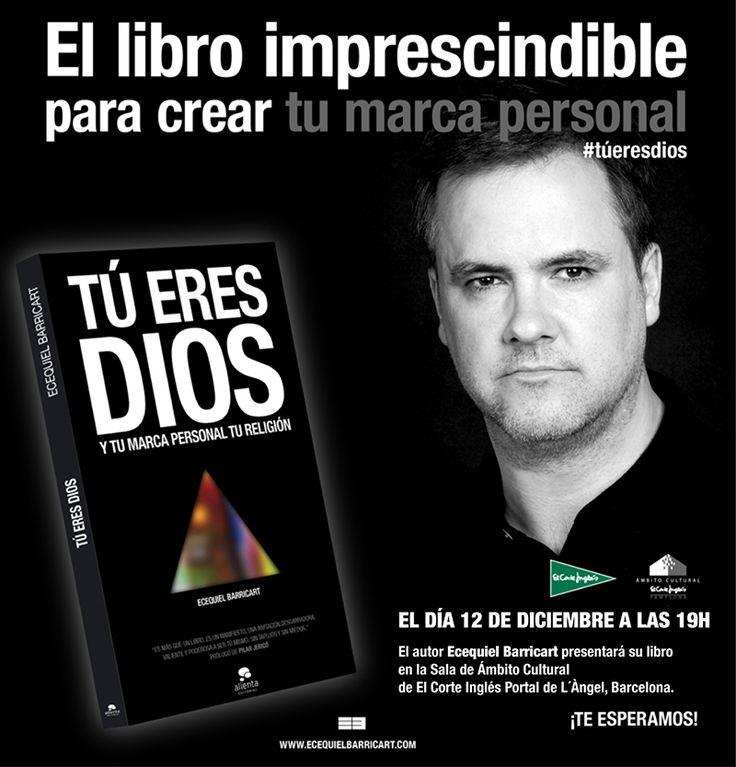 Cartel presentación Barcelona. 12 de diciembre de 2014 en EL Corte Inglés de Portal del Ángel.