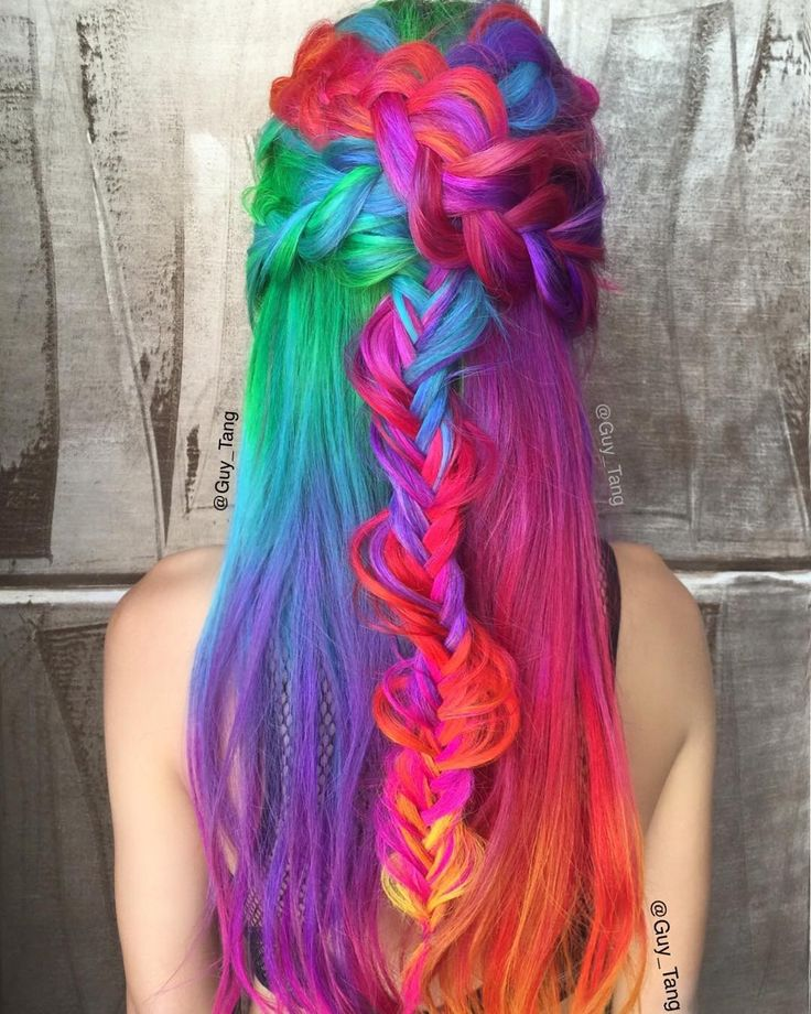 My girl @hieucow loves her #rainbow #hair using @pravana #vivids ! by guy_tang You can follow me at @JayneKitsch