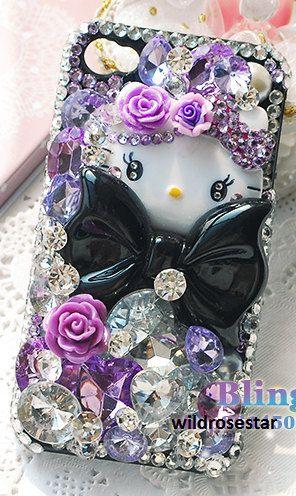 Purple jeweled Hello Kitty