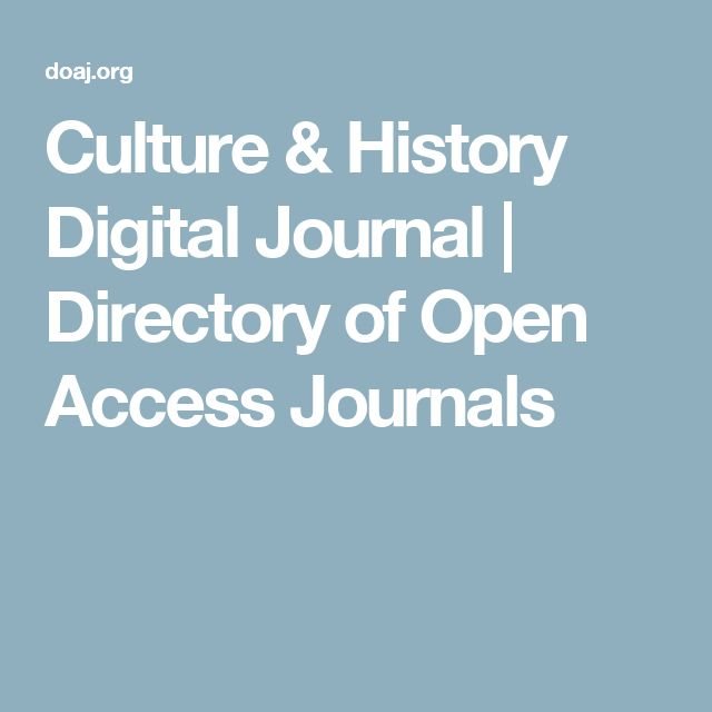 Culture & History Digital Journal | Directory of Open Access Journals